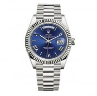 Rolex Day-Date 40 bleu Cadran 18K or blanc Automatique