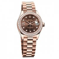 Rolex Oyster Perpetual Lady-Datejust 28 Or Everose 279135 RBR