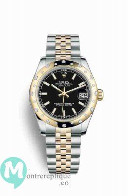 Replique Montre Rolex Datejust 31 Jaune Roles jaune 18 ct 178343