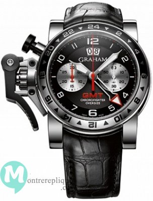 Graham Chronofighter Oversize GMT Noir Acier Homme 2OVGS.B39A
