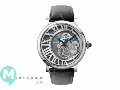 Rotonde de Cartier Reversed Tourbillon de los Homme Replique Montre W1556214