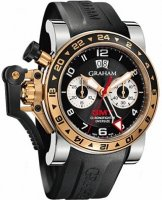 Graham Chronofighter Oversize GMT Noir Acier & Gold Homme 2OVGG.B21A.K10S
