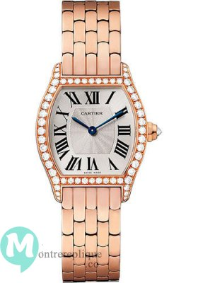 Cartier Tortue argented Flinque Dial mesdames Replique Montre