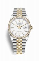 Replique Montre Rolex Datejust 36 Jaune Roles jaune 18 ct 126283RBR