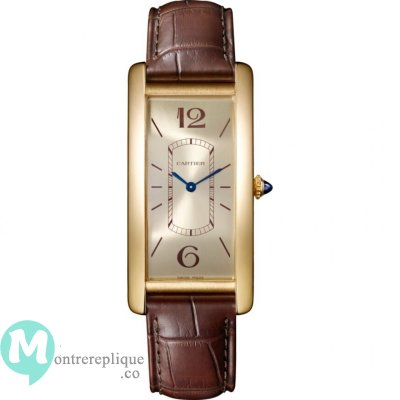 Cartier Tank Cintree Mechanical avec remontage manuel WGTA0026 Homme Montre Replique