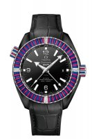 Réplique Montre OMEGA Seamaster Noir ceramic 24 hours GMT 215.98.46.22.01.003