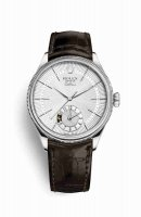 Réplique Montre Rolex Cellini Dual Time 50529 Argent guilloche Cadran