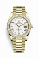 Replique Montre Rolex Day-Date 40 jaune 18 ct 228348RBR