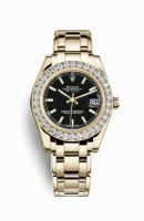 Replique Montre Rolex Pearlmaster 34 jaune 18 ct 81298