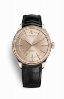 Réplique Montre Rolex Cellini Time 18 ct Everose 50505 cadran rose