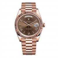 Rolex Day-Date 40 Chocolate Roman numerals Cadran 18K Everose Gold Automatique