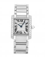 Cartier Tank Francaise Diamonds 18k blanc or mesdames WE100251