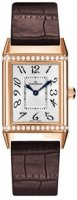 Jaeger-LeCoultre Reverso Duetto Cadran argente 18kt Or rose Brun Cuir Dames Q2562402