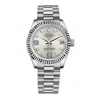 Rolex Datejust 178279D.1 31mm Femme President or blanc Fluted Bezel