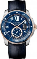 Calibre de Cartier Diver Bleu 42 mm Automatique Homme W2CA0008