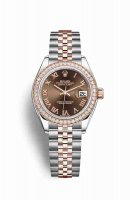 Replique Montre Rolex Datejust 28 Everose Roles 18 ct Everose 279381RBR