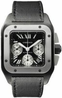 Cartier Santos 100 Carbon Titane and Steel Extra Large W2020005