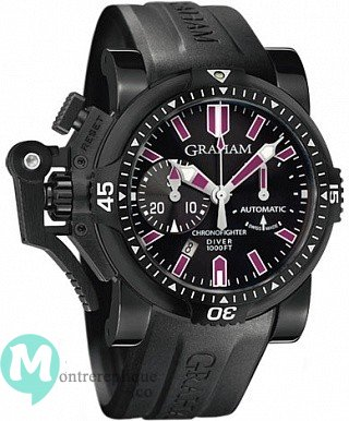 Graham Chronofighter Oversize Diver Deep Purple Homme 2OVEZ.B24A