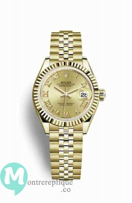 Replique Montre Rolex Datejust 28 jaune 18 ct 279178
