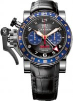 Graham Chronofighter Oversize GMT Blue Acier Homme 2OVGS.B26A