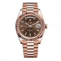 Rolex Day-Date 40 Chocolate Cadran 18kt Everose Gold Automatique Homme