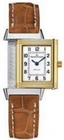 Jaeger-LeCoultre Reverso Cadran blanc Steel and 18kt Or jaune Cuir Dames Q2605410