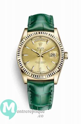 Replique Montre Rolex Day-Date 36 jaune 18 ct 118138