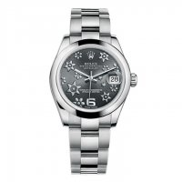 Rolex Datejust 178240 Foral Rhodium Cadran Automatique Steel Femme