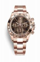 Replique Montre Rolex Cosmograph Daytona 18 ct Everose 116505 chocolat cadran