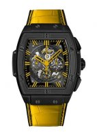 Hublot Spirit Of Big Bang All Black Jaune Alligator Cuir 601.CY.0190.LR