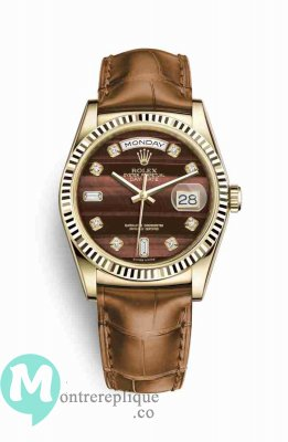Replique Montre Rolex Day-Date 36 jaune 118138 Bulls Eye Set Cadran