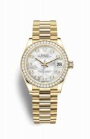 Replique Montre Rolex Datejust 31 jaune 18 ct 278288RBR