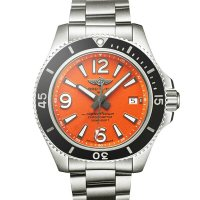 Copie Montre Breitling Superocean II 42 Acier Orange A17366D71O1A1