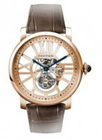 Rotonde de Cartier Flying Tourbillon Skeleton Dial de los Homme Replique Montre W1580046