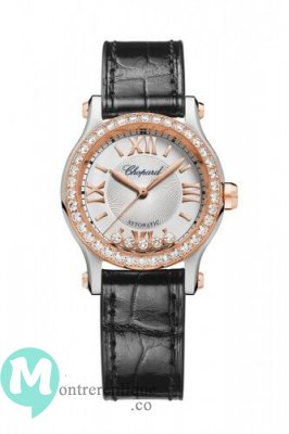Replique Montre Chopard Happy Sport Diamond 30 mm 278573-6015 Femme
