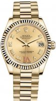 Rolex Datejust 31mm 18 ct or jaune Oyster 178278