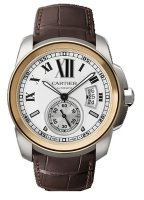 Calibre de Cartier Steel & Rose Or Automatique W7100011