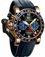 Graham Chronofighter Oversize GMT Blue Gold Homme 2OVGR.B26A