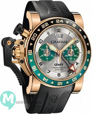 Graham Chronofighter Oversize GMT Argent BRG Gold Homme 2OVGR.S06A.K10B
