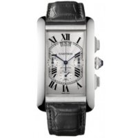 Cartier Tank Americaine XL Chronographe Or blanc W2609456