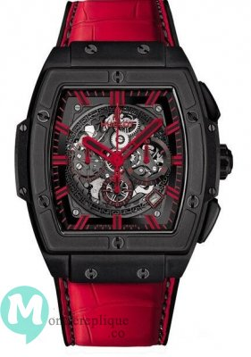 Hublot Spirit Of Big Bang All Black Rouge Alligator Cuir 601.CR.0130.LR