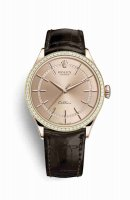 Replique Montre Rolex Cellini Time 18 ct Everose 50705RBR cadran rose