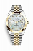Replique Montre Rolex Datejust 41 Jaune Roles jaune 18 ct 126303