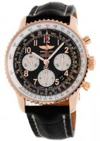 Breitling Navitimer 01 Rose Or Noir Crocodile deployante RB012012/BB07