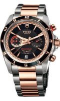 Tudor Grantour Chrono Fly-Back en acier inoxydable et or rose 20551N-95731