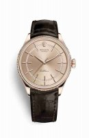 Replique Montre Rolex Cellini Time 18 ct Everose 50505 cadran rose