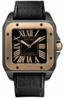 Cartier Santos 100 Carbon Grand Rose Automatique Or Acier W2020009