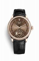 Replique Montre Rolex Cellini Dual Time 18 ct Everose m50525-0016