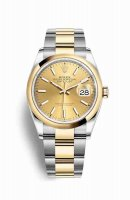 Replique Montre Rolex Datejust 36 Jaune Roles jaune 18 ct 126203