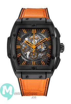 Hublot Spirit Of Big Bang All Black Orange Alligator Cuir 601.CO.0190.LR